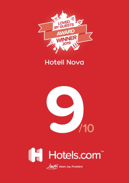 Gästrecensioner betygsättning för Hotell Nova