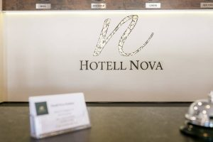 Hotell Nova logo reception
